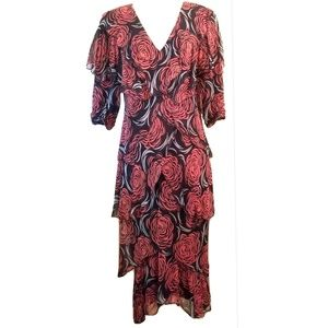1980s Holly Harp for Neiman Marcus Silk Dress